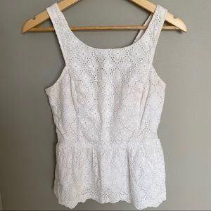 Lilly Pulitzer White Lace Ashton Ruffle Tank Top 4